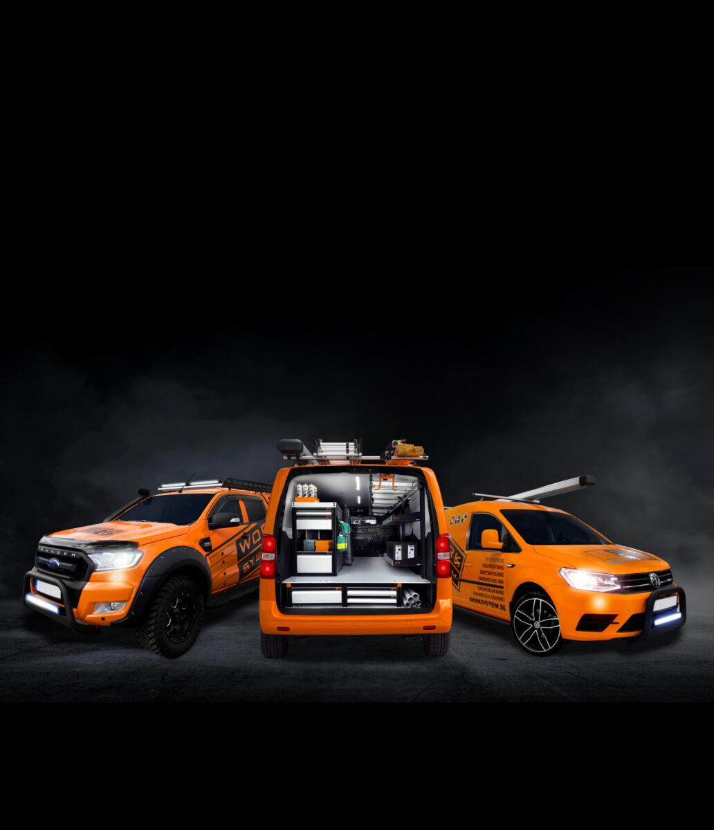 pakettiautojen hyllyt, huoltoauton varustelu, worksystem